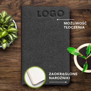 ECO NOTES ALCANTARA - Charcoal Black